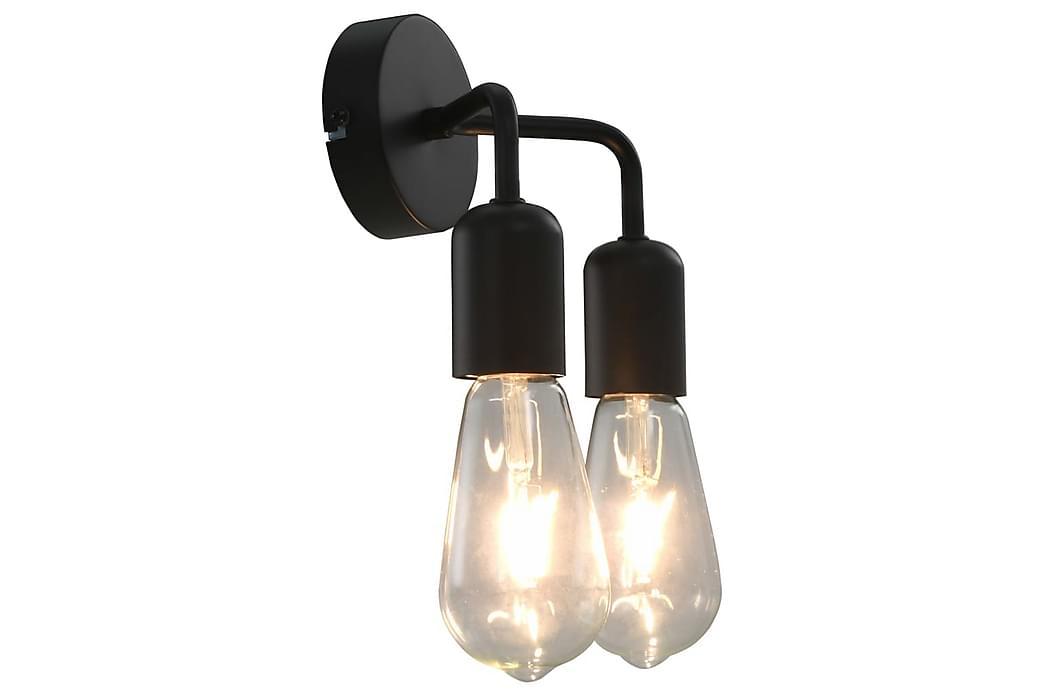 Vägglampa med glödlampor 2 W svart E27 - Svart - Belysning - Inomhusbelysning & Lampor - Vägglampa