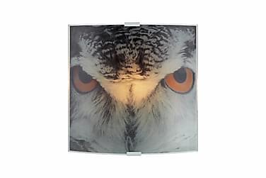 Vägglampa Owl Grå