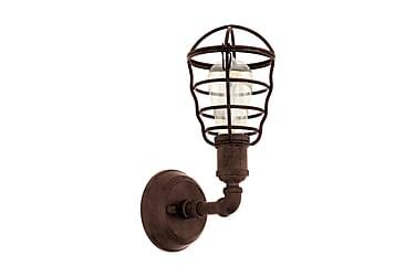 Vägglampa Port Seton 13 cm Rund Brun Antik