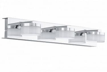 Vägglampa Romendo 45 cm LED 3 Lampor Krom/Blank