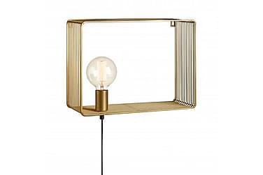 Vägglampa Shelf Guld