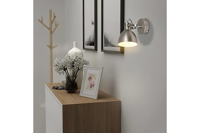 Vägglampor 2 st E14 grå - Grå - Belysning - Inomhusbelysning & Lampor - Vägglampa