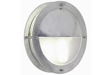Vägglampa Malte 24 cm Rund Galvaniserat Stål