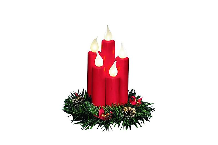 Ljusstake Hanna 20 cm 5L Röd - Markslöjd - Belysning - Julbelysning - Adventsljusstake