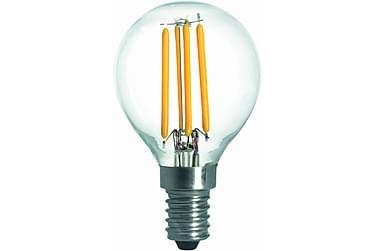 LED-lampa Klot 3,6W E14 2700K Dim Filament Klar