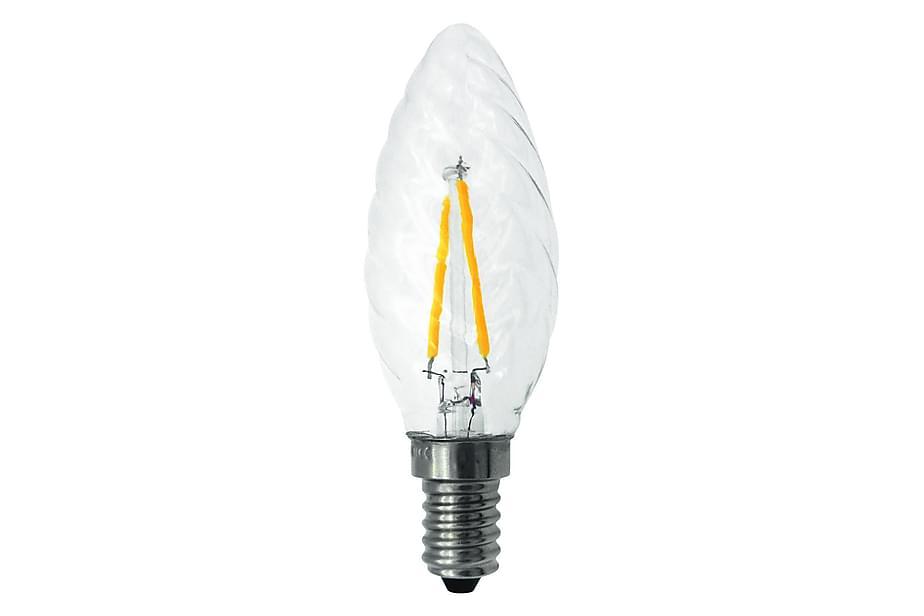 LED-lampa Kron/Twist 1,8W E14 Filament