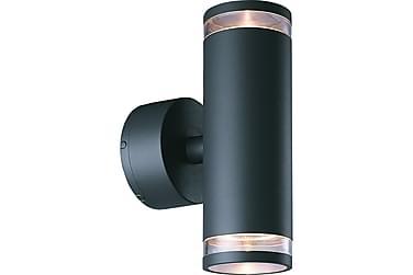 Vägglykta Eklof II 8W 2L Ljusgrå