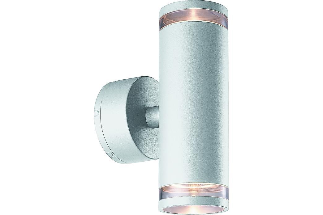 Vägglykta Eklof II 8W 2L Silver - Malmbergs Elektriska - Belysning - Utomhusbelysning - Fasadbelysning