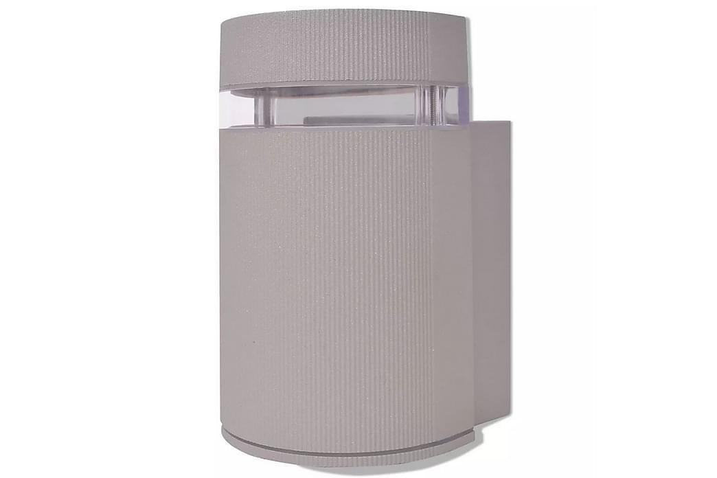 Semicylindrisk utomhusväggskans grå aluminium - Grå - Belysning - Utomhusbelysning - Stolplykta & grindlykta