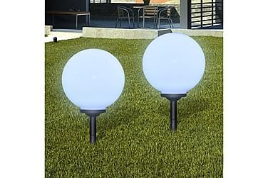 Markbelysning Pfeiffer LED solpanel 30 cm 2-pack med Markspi
