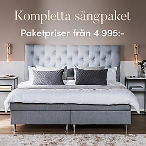 Kompletta sängpaket - Paketpriser från 4 995:-