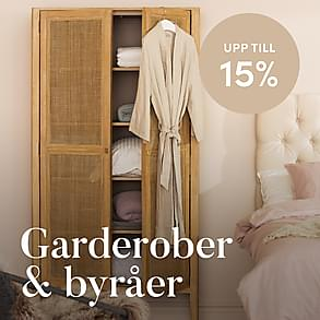 Garderober & Byråer - Upp till 15%