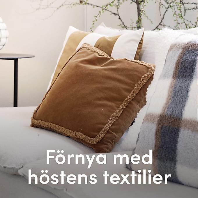 Förnya med höstens textilier