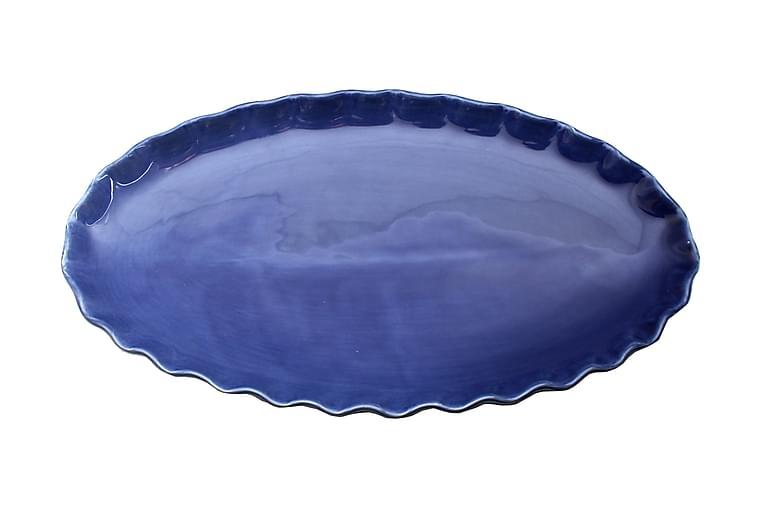 Fat Gerbera Ovalt Stort - Marinblå - Inredning - Dekoration - Brickor & fat