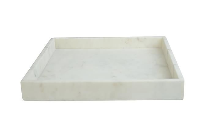Bricka Kvadrat Marmor - Vit - Inredning - Dekoration - Inredningsdetaljer