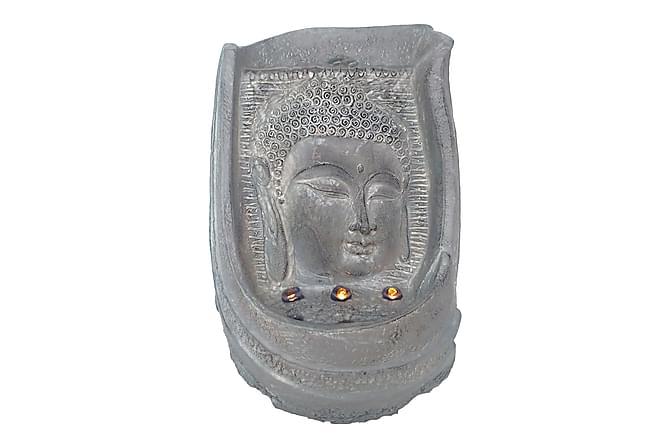 Buddha Fontän Ansikte H25 cm - Grå - Inredning - Dekoration - Inredningsdetaljer