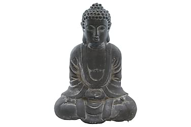 Buddha Sittande Grå H35 cm