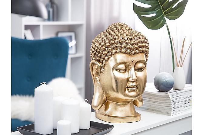 Figur Buddha 24 24 41 cm - Guld - Inredning - Dekoration - Inredningsdetaljer