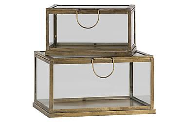 Glaslåda Tashia 2-pack 34|42 cm