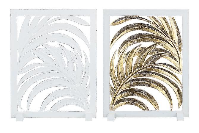 Insynsskydd Tobira 40 cm Ställning Blad - Vit - Inredning - Dekoration - Inredningsdetaljer