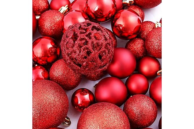 Julgranskulor 100 delar set 6 cm röd - Röd - Inredning - Dekoration - Julpynt & juldekoration