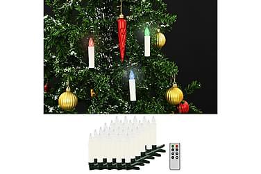 Trådlösa LED-ljus med fjärrkontroll 30 st RGB