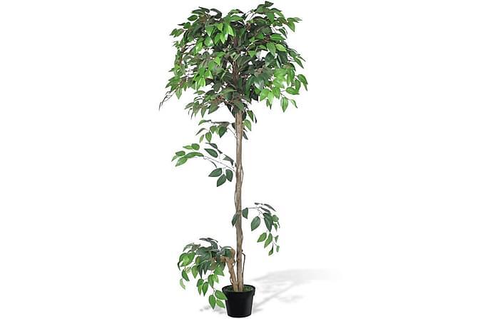 Konstgjord Fikusträd med Kruka 160 cm - Flerfärgad|Grön - Inredning - Dekoration - Konstgjorda växter