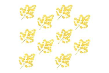 Konstgjorda blad ginkgo 10 st gul 65 cm