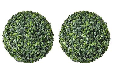 Konstväxt Buxbom 2 st bollar 35 cm