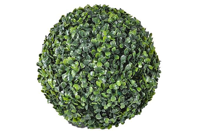 Konstväxt Buxbom 2 st bollar 35 cm - Grön - Inredning - Dekoration - Konstgjorda växter