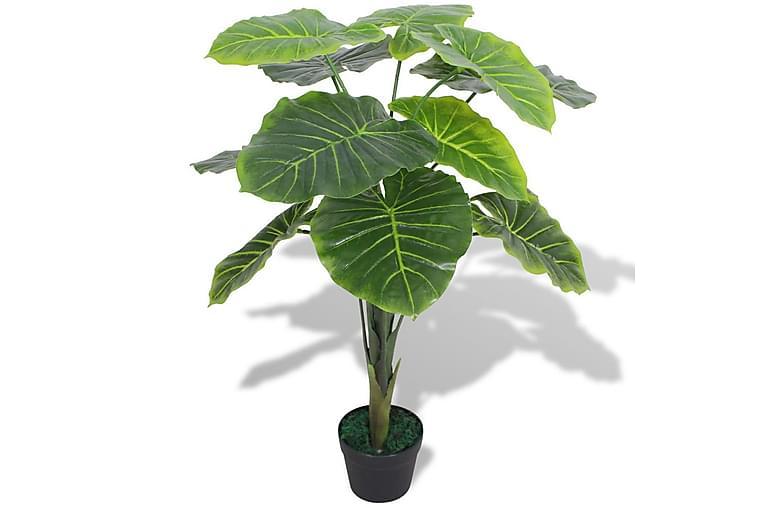 Konstväxt Taro med kruka 70 cm grön - Grön - Inredning - Dekoration - Konstgjorda växter