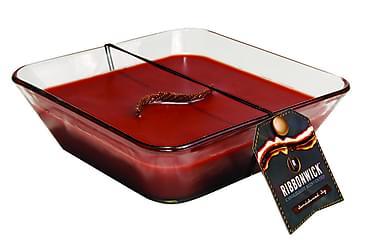 Doftljus Decor Glass Large Röd