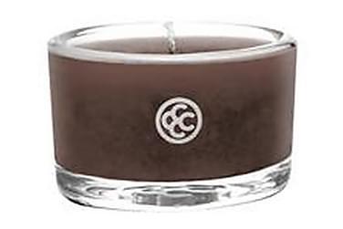 Doftljus Glass Tealight Mahogany Leather