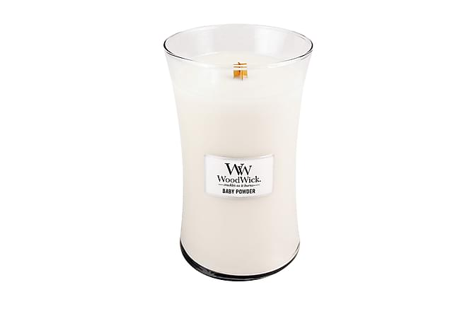 Doftljus Large Baby Powder Vit - WoodWick - Inredning - Dekoration - Doftljus & rumsdofter
