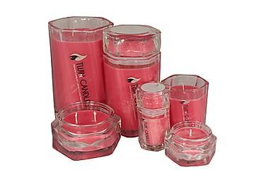 Doftljus Large Red Velvet Rosa