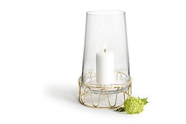 Ljuslykta/Vas Guld Glas/Stål