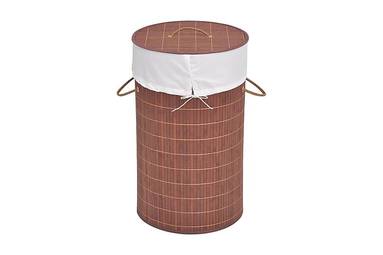 Tvättkorg i bambu rund brun - Brun - Inredning - Förvaringslådor & korgar - Tvättkorg