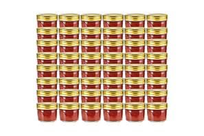 Syltburkar i glas med guldfärgade lock 48 st 110 ml