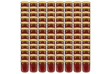 Syltburkar i glas med guldfärgade lock 96 st 230 ml