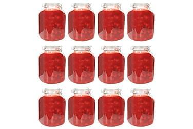 Syltburkar i glas med lock 12 st 5 L