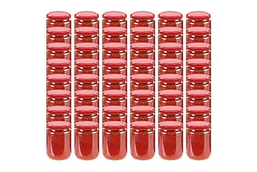 Syltburkar i glas med röda lock 48 st 230 ml