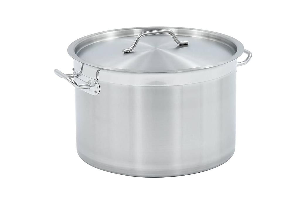 Gryta 32 L 40x26 cm rostfritt stål - Silver - Inredning - Husgeråd & kökstillbehör - Grytor & kastruller