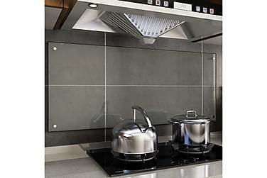 Stänkskydd transparent 120x50 cm härdat glas