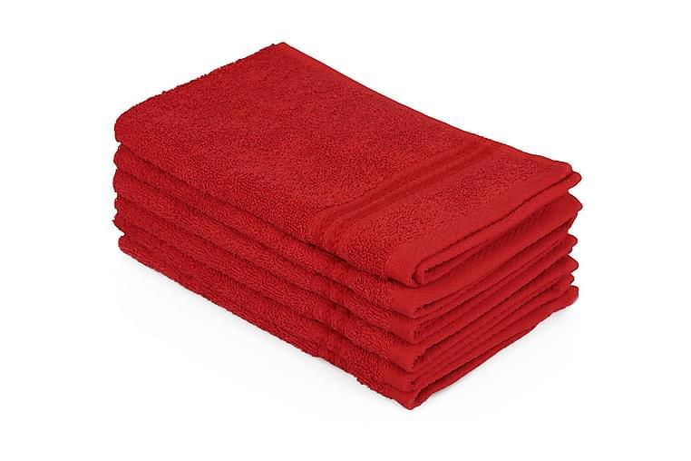 Handduk Hobby 30x50 cm 6-pack - Röd - Inredning - Husgeråd & kökstillbehör - Kökstextil