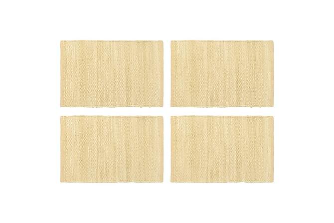 Bordstabletter 4 st chindi beige 30x45 cm bomull - Beige - Inredning - Husgeråd & kökstillbehör - Köksunderlägg