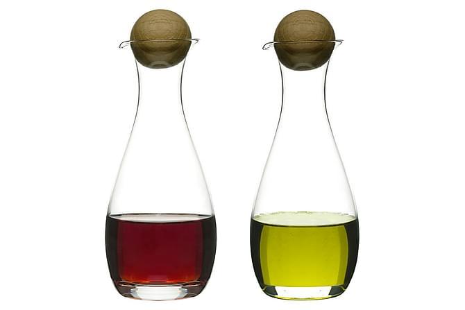 Oval oak olja/vinägerflaska med ekkork, 2-pack - Sagaform - Inredning - Husgeråd & kökstillbehör - Karaff & tillbringare