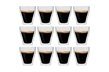 Espressoglas dubbelväggiga 12 st 280 ml