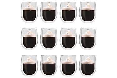 Espressoglas dubbelväggiga 12 st 320 ml