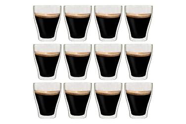 Espressoglas dubbelväggiga 12 st 370 ml