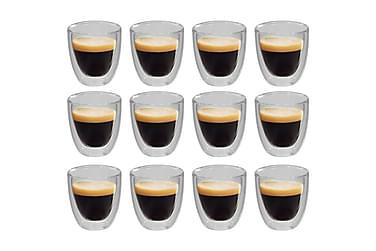 Espressoglas dubbelväggiga 12 st 80 ml